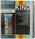 Kind Dark Chocolate Nuts and Sea Salt Bars, (Pack of 12)