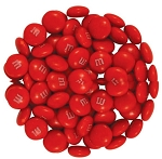 M & M Red Candy, 5 Pounds