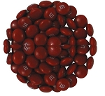 M & M Maroon Candy, 5 Pounds