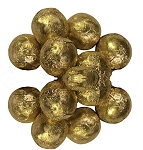 Milk Chocolate Gold Foil Wrapped Chocolate Balls, 10 Pounds