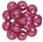 Milk Chocolate Pink Foil Wrapped Chocolate Balls, 10 Pounds