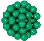 Dark Green Foil Wrapped Milk Chocolate Balls, (10 Pounds)