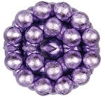 Lavender Foil Wrapped Milk Chocolate Balls, (10 Pounds)