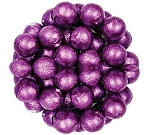 Purple Foil Wrapped Milk Chocolate Balls, (10 Pounds)