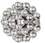 Silver Foil Wrapped Milk Chocolate Balls, (10 Pounds)