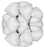 White Foil Wrapped Milk Chocolate Hearts, (10 Pounds)