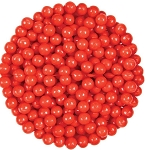 Oak Leaf Pearls Red Candy, 10 Pounds
