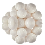 Oak Leaf White One Inch Gumballs, (Pack of 850)