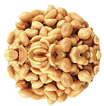 Blanched Roasted Unsalted Extra Large Virginia Peanuts, (10 Pounds)