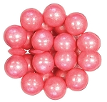 Oak Leaf Shimmering Pink One Inch Gumballs, (Pack of 720)