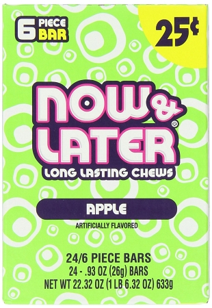 Now and Later Apple Candy, (Pack of 24)