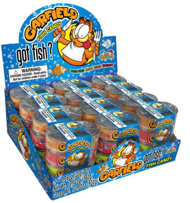 Kidsmania Garfield Got Fish Novelty Candy