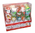 Sweet Seasons Holiday Stackers Hand Decorated Holiday Jelly Pops, (Pack of 15)