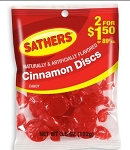 Sathers Cinnamon Discs, (Pack of 12)