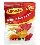 Sathers Gummy Dinosaurs, (Pack of 12)