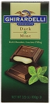 Ghirardelli Dark and Mint Chocolate Bars, (Pack of 12)
