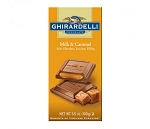 Ghirardelli Milk and Caramel Chocolate Bars, (Pack of 12)