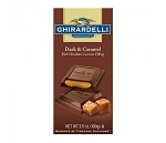 Ghirardelli Dark and Caramel Chocolate Bars, (Pack of 12)