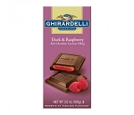 Ghirardelli Dark Raspberry Chocolate Bars, (Pack of 12)