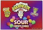 Warheads Chewy Cubes Movie Theater Concession Size Candy, (Pack of 12)