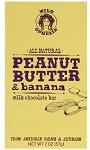 Wild Ophelia Peanut Butter and Banana Chocolate Bar 2 Ounce Bars, (Pack of 12)