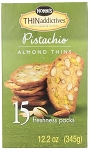 Nonnis Thin Addictives Pistachio Almond Thins, (Pack of 15)