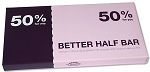 Bloomsberry Better Half Bar 3.5 Ounce Milk Chocolate Bars, (Pack of 10)
