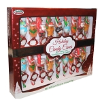 Sweet Seasons Holiday Candy Canes With Hand Decorated Candies, (Pack of 18)