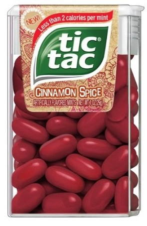 Tics Tacs Cinnamon Spice, (Pack of 12)