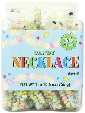 Smarties Candy Necklaces, (36 Pack)