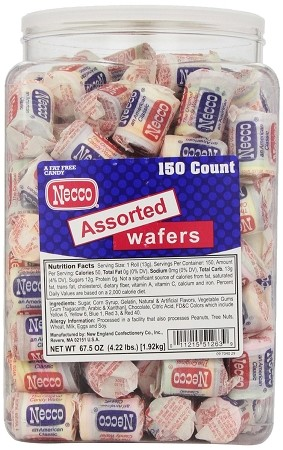 Necco Mini Rolls Wafers, (Pack of 150)