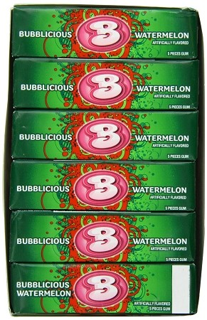 Bubblicious Watermelon, 5-Piece Packs (18 Pack)