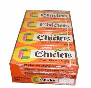 Chiclets Fruit Chewing Gum, (Pack of 20)