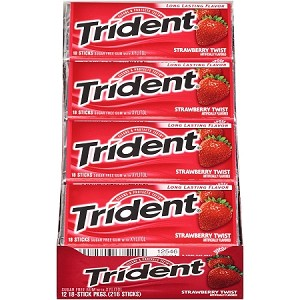Trident Strawberry Twist Gum (Pack of 12)