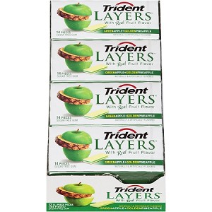Trident Layers Apple and Pineapple (Pack of 12)