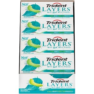 Trident Layers Cool Mint Melon Fresco (12 Pack)