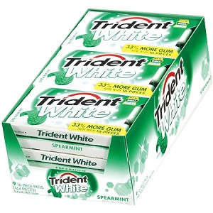 Trident White Spearmint Gum (Pack of 9)