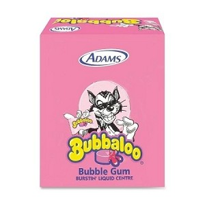 Bubbaloo Bubble Gum, (60 Piece Pack)