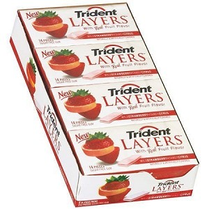 Trident Layers Citrus Strawberry  (12 Pack)