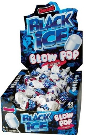 Charms Black Ice Blow Pops, (48 Pack)