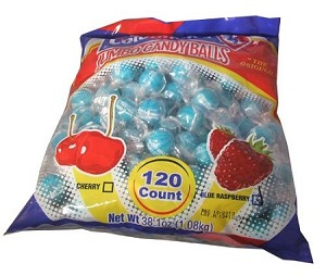 Colombina Cherry & Blue Raspberry, (120 Pack)