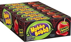 Hubba Bubba Candy Apple Gum, (Pack of 18)