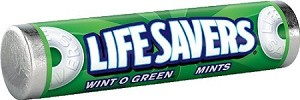 Lifesavers Wintergreen Candy Rolls, (Pack of 20)