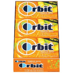 Orbit Tropical Remix Gum, (Pack of 12)