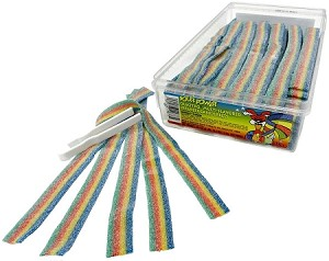 Sour Power Loose Quattro Candy Belts, (Pack of 150)