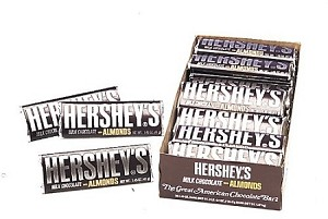 Hershey Chocolate Almond Bar, (Pack of 36)