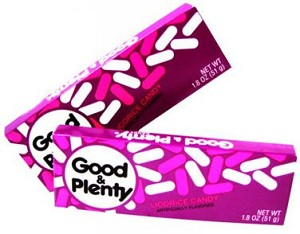 Hershey Good and Plenty Candy, (Pack of 24)