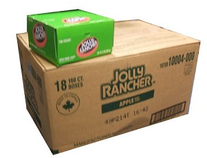 Jolly Rancher Apple Twists Master Case Eighteen 160 Count Boxes