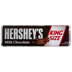Hersheys Milk Chocolate King Size Candy Bars, (Pack of 18)
