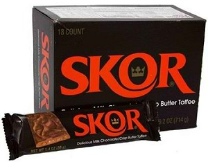 Hershey Skor Bars, (Pack of 18)